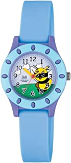 Q&Q Kids White Dial Silicone Band Watch - Vq13J002Y, Blue Band, Analog Display