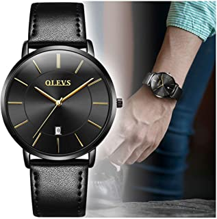 OLEVS Men's Ultra Thin Fashion Minimalist Wrist Watches...