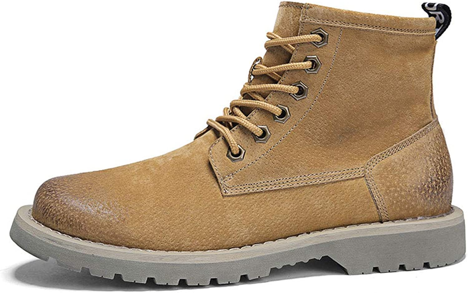 New Men's Boots Winter Fashion Casual Martin Boots High-top Outdoor Tooling shoes Motorcycle Boots (color   C, Size   39)