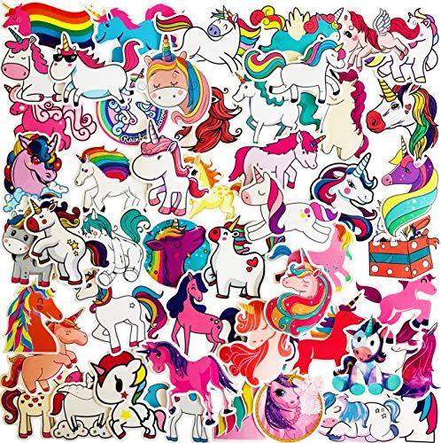 50 – 300 unidades de pegatinas clásicas de vinilo retro para niñas – rosas, flamencos, mariquitas, labios, amor, arcoíris y unicornios