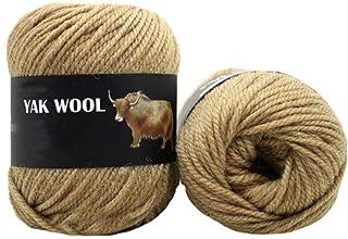 Clisil 300g Light Brown Thick Yak Wool Yarn Warm Cashmere Thread Knitting Worsted Blended Crochet Yarn DIY Winter Sweater Scarf Gloves Yarn