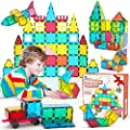Jasonwell 65 PCS Magnetic Tiles Building Blocks Set for Boys Girls Preschool Educational Construction Kit Magnet Stacking Toys for Kids Toddlers Children 3 4 5 6 7 8 Year Old from Jiaxin