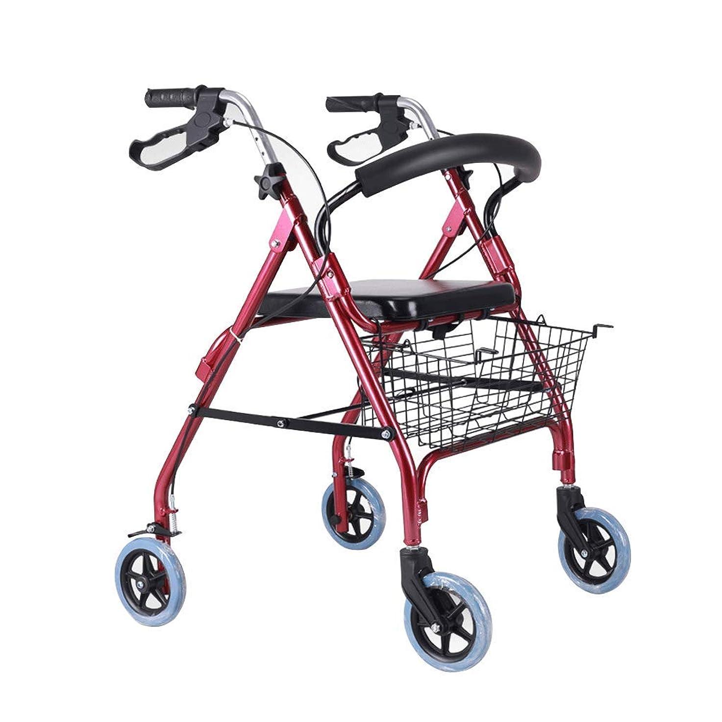 カウントのスコア公園ケーブルブレーキ、パッド付きシート、背もたれ付き四輪車用ウォーラーウォーカー