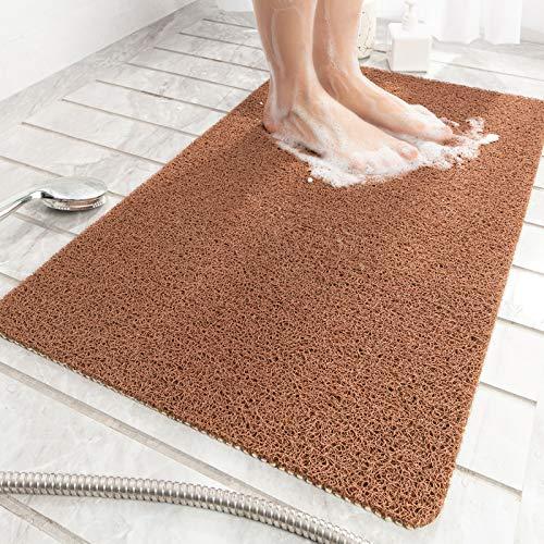 "Non-Slip Bathtub Mat, Shower Mats for Bath Tub, PVC Loofah Bathroom Mats for Wet Areas, Quick Drying (17.3""x27.5"")"