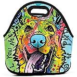 Love And A Dog Pastore tedesco Riutilizzabile Pranzo al sacco isolato Borsa termica Raffreddare Borse per contenitori gourmet Picnic Pranzo portatile Borsa Borsa