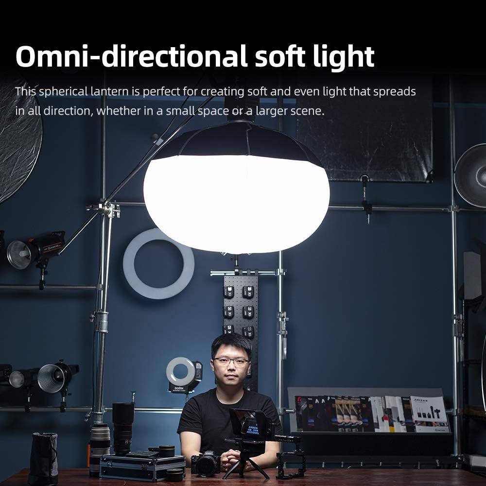 65cm Godox Lantern Foldable Quick-install Portable Round Shape Softbox Light for Bowens Mount Studio Flash