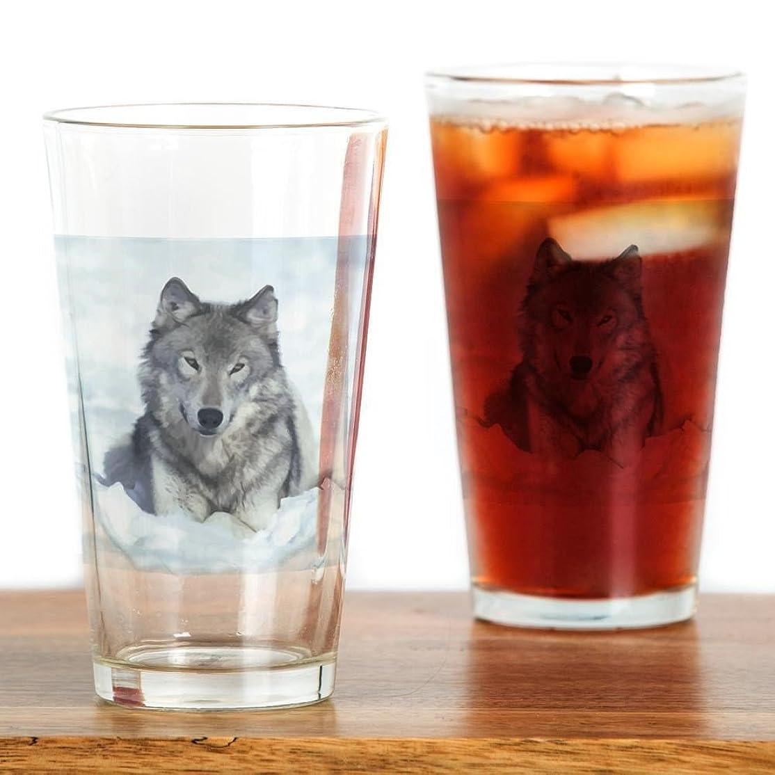 価値取り付けヘルパーCafePress?–?Wolf?–?パイントガラス、16オンスDrinkingガラス クリア 064816360033332