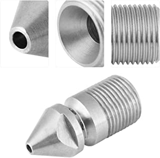 Sewer Jetter Nozzle, Stainless Steel SS304 Pressure Sewer Cleaning Pipe Drain Jetter Nozzle 3/8BSP Male Thread