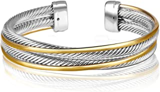 UNY Vintage fashion Twisted Cable wire bracelet new Antique design Elegant Unique Retro Cuff Bracelet