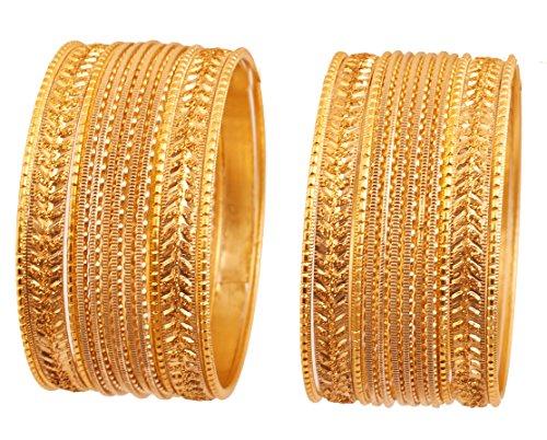 Touchstone Metallische bunte 2 Dutzend spezielle Armbandarmbänder des Armbandansammlungsschmucks für Damen 2.75 Set 2 Golden