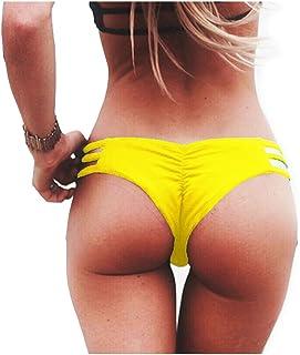 e1104ec219f Letsfree Womens Sexy Brazilian Cheeky Bikini Bottoms Strappy String Panties  Hipster Thong Swimwear