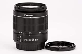 Canon EF-S 18-55 mm 1:3.5-5.6 III - Objetivo zoom para cámara digital EOS (compacto y ligero gran calidad de imagen en todas las distancias focales revestimientosque minimiza difusión de luz y reflejos AF de alta velocidad distancia de enfoque corta muy baja lente sin plomo)