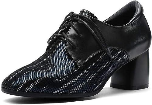 zapatos de mujer de Punta Estrecha 5.5cm de Tacones Altos zapatos de Moda de Estilo británico