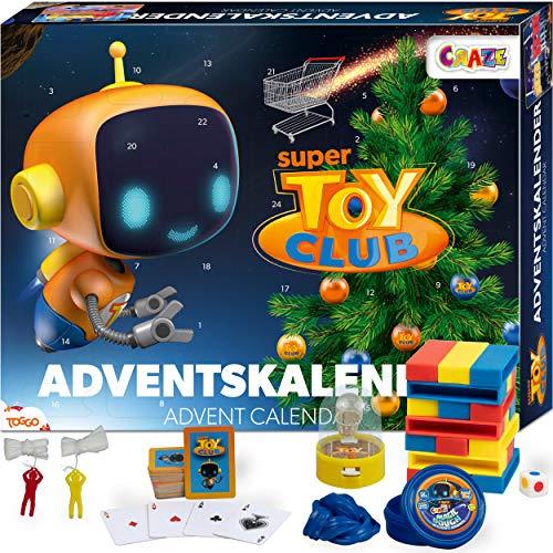 Craze Adventskalender SUPER Toy Club Wissensspiel Geschicklichkeitsspiel löse kniffelige Aufgaben, Kreatives Spiel für Kinder und Erwachsene 20289