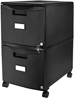 File cabinet Transparent Design Pull-Out Large File Storage Space Desktop Cabinet Independent Plastic Waterproof Plastic Color : Black 33.8x25x26.5cm Office Supplies