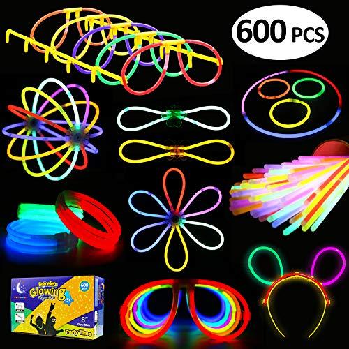 LYKJ-karber Funcorn Toys Varitas Luminosas y Accesorios de Pulseras, Gafas, Flores Decoración para Casa Navidad...