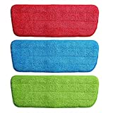 Maharsh Replacement Microfiber Spray Mop Pads Refill Cloth Heads for Spray Mops (42x14 cm, Multicolour) (2)