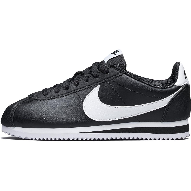 (ナイキ) Nike WMNS Classic Cortez 807471-016 ブラック ホワイト コルテッツ スニーカー [並行輸入品]