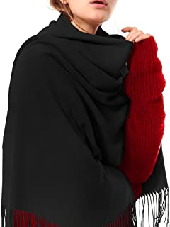 Womens Thick Soft Cashmere Wool Pashmina Shawl Wrap Scarf - Aone Warm Stole