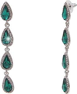 Ohrringe Ohrhänger Ohrstecker Perlen grün hellgrün silber 3 Modelle Auswahl 401a