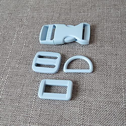 YANME 1 Juego/Lote 20Mm 25Mm Correas de plástico Cierre de cinturón para Bolsa Collar de Perro Mascota Accesorio de Costura