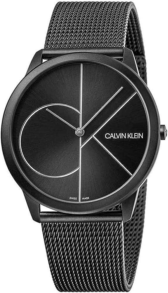 Calvin klein orologio analogico al quarzo per uomo,  in acciaio inossidabile K3M5T451
