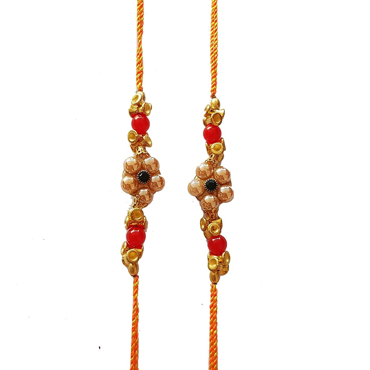 Jaipri, 2 Pcs Rakhi Set for Bhaiya, Bhabhi on Indian Rakhi Rakshabandhan Festival, Best Bands for Brother