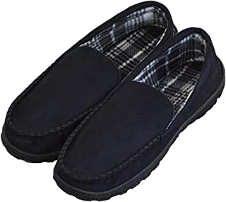 DGrut Driving Slippers for Men Wool Like Warm Memory Foam Shoes