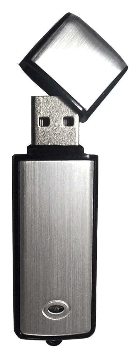 恋人威する瞑想的BeryKoKo ボイスレコーダー USBメモリー型 8GB シルバー モデル Windows 7 / 8 / 8.1 / 10 動作確認済 日本語 説明書付 正規品/18ヶ月保証