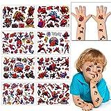 Tatouage Temporaire pour Enfant, 8 Feuilles Tatouage Spiderman, Enfants...