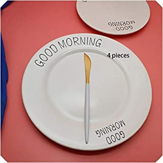 4 pcs Gold Dinnerware Stainless steel Butter/Dessert Knife Fork Spoon Fruit Cutlery Kitchen Food Tableware Flatware Set,A 4 pieces1