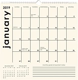 2020 Classic Grid Wall Calendar, by Waste Not Paper