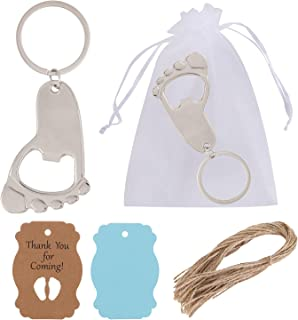16 Pack Baby Keychain Bottle Openers Beer Tool for Baby Shower Favors Gifts Bridal Baby Shower Decorations Newborn Baby Pa...