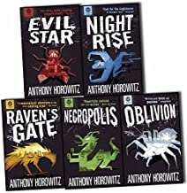 Power of Five Books Collection 5 Books Set by Anthony Horowitz (Raven's Gate, Evil Star, Night Rise, Necropolis, Oblivion)
