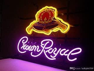 Crown Royal Metal Frame Neon Sign 17''x13'' Real Glass Neon Sign Light for Beer Bar Pub Garage Room