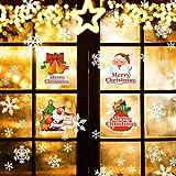 Naler 96 Schneeflocken Fensterbild Abnehmbare Fensterdeko Statisch Haftende PVC Aufkleber Winter Dekoration - 7