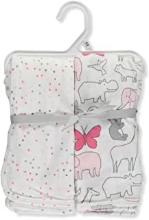 Baby Girls' 2-Pack Swaddle Blankets
