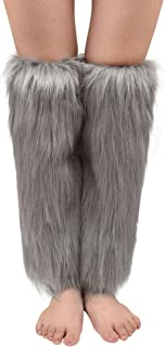 Best grey fur leg warmers Reviews