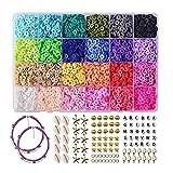SHJOEE 5400pcs Accessoires de Bricolage 24 colores Espaciadores de...