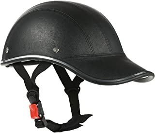 Romacci Capacete de motocicleta estilo boné de beisebol meia face com viseira de sol
