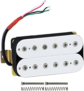 FLEOR Guitar Humbucker Pickups Double Coil Neck Pickup for Electric Guitar Pickup-White
