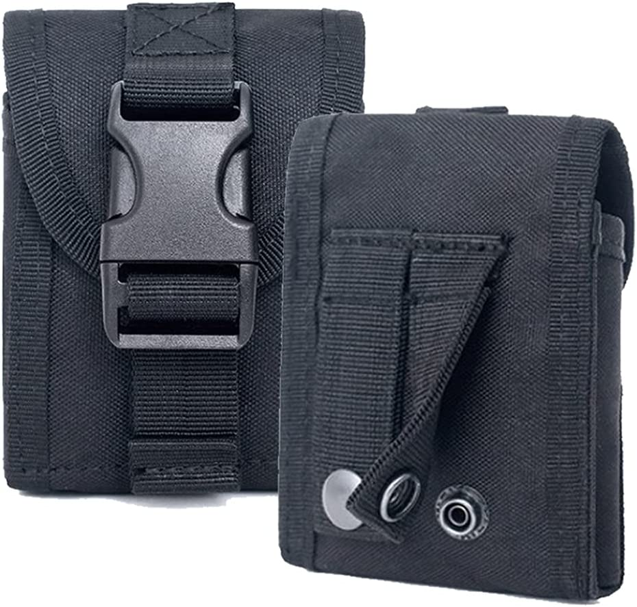Case for Galaxy Z Flip, PAZLOG Black Nylon Cell Phone Belt HolsterTactical Waist PouchCompatible withSamsung Z Flip 5G, Z Flip3,Z Flip3 5G (SM-F700, SM-F707, SM-F711), Moto RAZR 5G(2020) XT2071