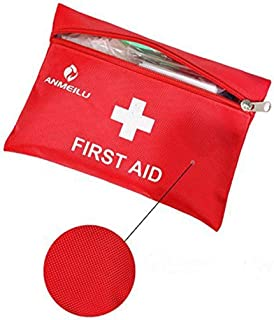 Small Travel First Aid Kit - 12 Piece Clean, Treat and Protect Most Injuries,Ready for Emergency at Home, Outdoors, Car, C...