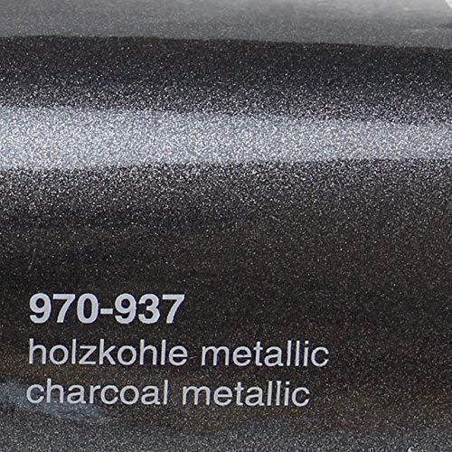 Preisvergleich Produktbild Oracal 20, 72 / m² 970RA 937 Holzkohle Metallic Glanz gegossene Profi Autofolie 152cm breit BLASENFREI mit Luftkanäle