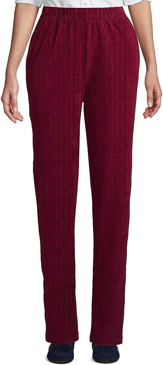 Lands' End Women's Sport Knit High Rise Corduroy Elastic Waist Pants