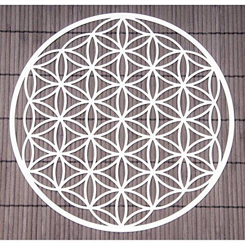 """baratos y buenos Decoración de pared """"Flor de la vida"""", diámetro 25 cm, acero inoxidable, decoración… calidad"""