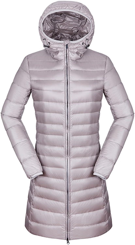 CIKRILAN Women's Winter Duck Down Lightweight Long Jacket Outdoor Parka Coat