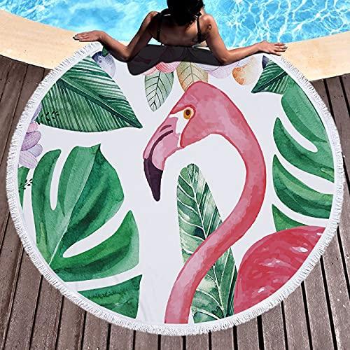Serie De Animales De Dibujos Animados Toalla De Playa Redonda Estera De Playa De Microfibra Estera De Picnic Absorbente A Prueba De Arena De Secado Rápido 150 * 150cm