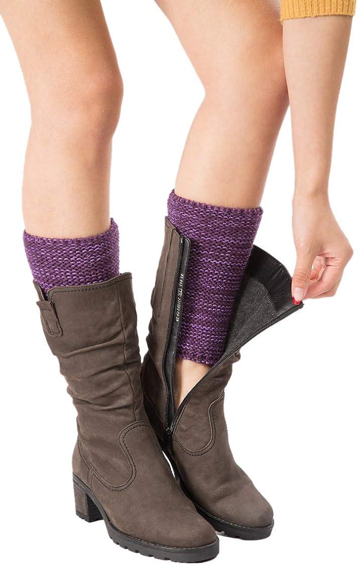 XueXian Women's Acrylic Wool Knee Protection Leg Warmwe Boot Topper