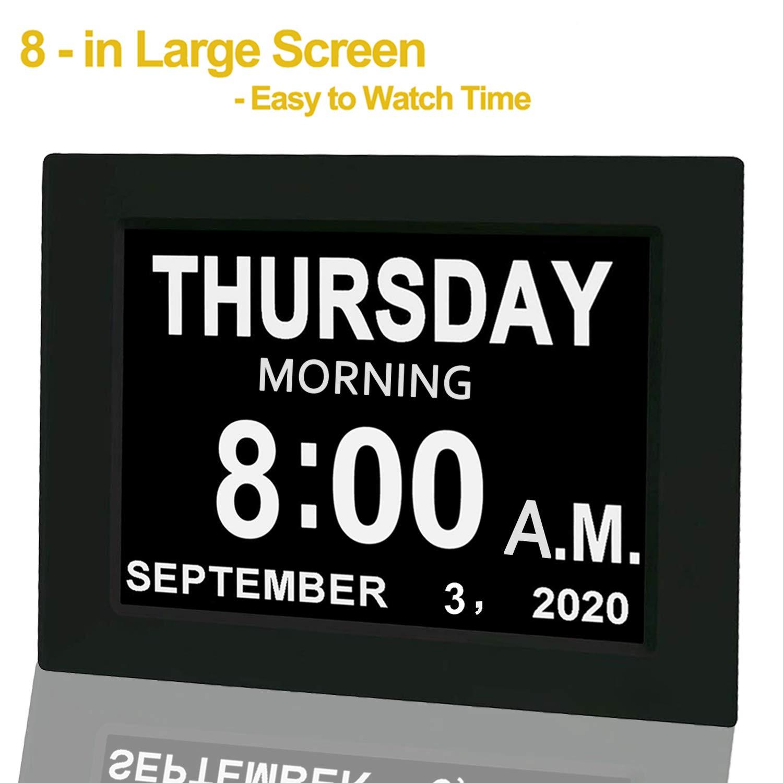 %E3%80%90Upgraded%E3%80%91 Digital Calendar Alarm Clock